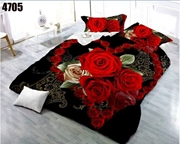 King Size Bedsheet with 2 Pillows (4705)