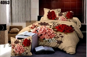 King Size Bedsheet with 2 Pillows (4063)