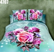 King Size Bedsheet with 2 Pillows (4707)