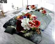 King Size Bedsheet with 2 Pillows (4716)