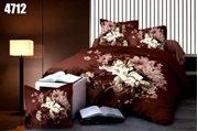 King Size Bedsheet with 2 Pillows (4712)