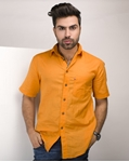ELEMENT BURNT ORANGE IRISH LINEN SHIRT EJ-002