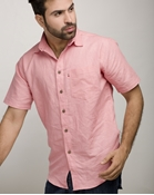 Buy ELEMENT CORAL PINK IRISH LINEN SHIRT EJ-005  online
