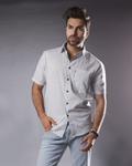 ELEMENT LIGHT BLUE CHECK (PATTERN) IRISH  LINEN SHIRT EJ-007