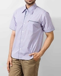 ELEMENT LIGHT BLUE COTTON SHIRT WITH MICRO CHECK DESIGN EJ-008