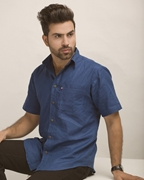ELEMENT NAVY BLUE IRISH LINEN SHIRT EJ-027