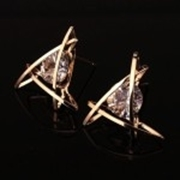 Zircon Triangle Earring