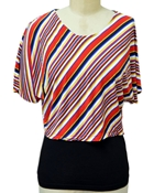 Buy MULTI COLOR STRIPE TOP EJ-053  online