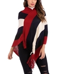 Multicolour Winter Wool cape Shawl