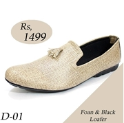 Mens Foan and Black Loafer