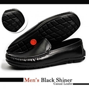 Men's Black Shiner causul Loafer
