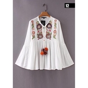 Buy White Embroidered Kurti For Women (02-EMB)  online