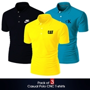 Pack of 3 Casual Polo CNC T-shirts