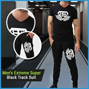Men's Extreme Super Black Track Suit CJ-05