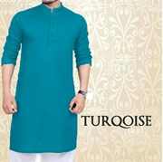 Special Turqoise Kurta for Mens SKU-SRK-VT-011