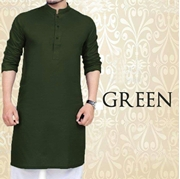 Special Green Kurta for Mens SKU-SRK-VT-012