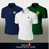 Buy Pack of 3 Casual Polo FTC T-shirts  online
