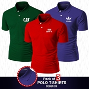 Pack of 3 Casual Polo T-shirts Design 28