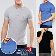 Pack of 3 Polo T-shirts Design 32