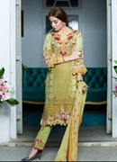 Three Piece Lawn Printed Suit with Chiffon Dopatta