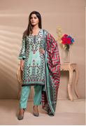 Unstitched Printed Lawn for Women 3 Pieces By Misha Design | M-S-3-09
