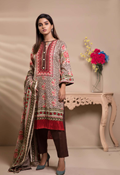 Buy Unstitched Printed Lawn for Women 3 Pieces By Misha Design | M-S-3-010  online