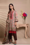 Unstitched Printed Lawn for Women 3 Pieces By Misha Design | M-S-3-010