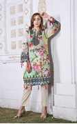 Lala Digital Print Kurti Green 1000314699055