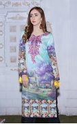 Lala Digital Print Kurti Purple 1000314799066