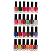 Pack Of 24 Peel Off Nail Paints - Multicolor