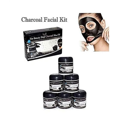 Buy Charcoal Whitening Six Step Complete Facial Kit - 70Ml  online