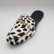 Buy Animal Printed velvet mule shoes with  an elegant Buckle WFW0036  online