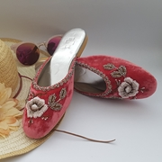 Baby Pink velvet mule shoes WFW0012