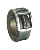Buy  House of Leather - Grey Genuine Leather Belt for Men - Double Stitched Casual Belt  online