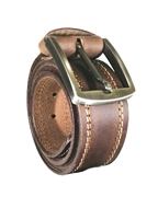 House of Leather - Dark Brown Real Leather Casual Belt for Men BCD-03Brown