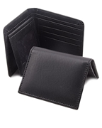 Pack of Men Rexine Black Wallet and Card Holder W-9500