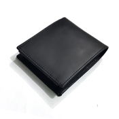 Buy Sheep Leather Black Wallet for Men with Coin Pouch  online