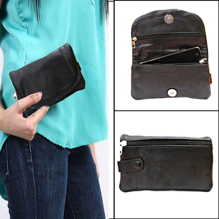 Buy Black Sheep Leather Softy Women Pouch  online