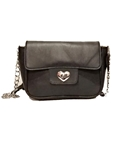 Sheep Leather Cross Body Bag for Women(Black)