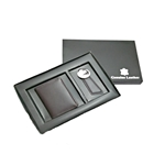 Gift Set - Leather Card Holder & Key Ring