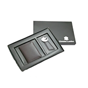 Buy Gift Set - Leather Card Holder & Key Ring  online