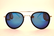AVIATOR SUNGLASSES WITH BLUE MIRRORED LENS