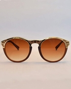 Buy VINTAGE CLUBMASTER STYLE BROWN AND GOLD SUNGLASSES WG-0027  online