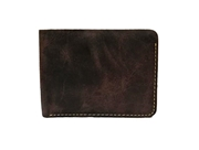 Black Crazy Horse Leather Men Wallet