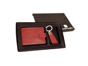 Red Men Wallet and Key Ring Set