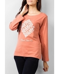 Graphic Tee with Elements of Nature Illusion print WT-0039
