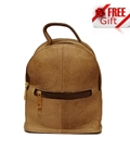 House of Leather Women Sheep Leather Mini Back Pack