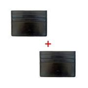 Pack of Two - Sheep Leather Black Card Holder