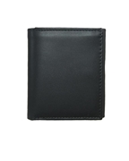 Black Tri Fold Leather Wallet