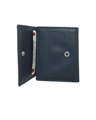 Buy Navy Blue Tri Fold Leather Wallet  online